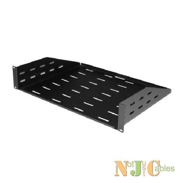 AV Rack 2RU Cantilever Shelf with vented holes