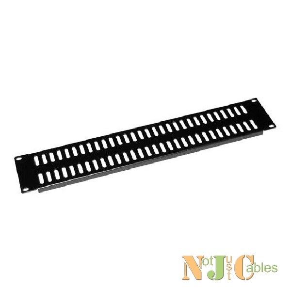 AV Rack 2RU metal blanking panel with vented holes