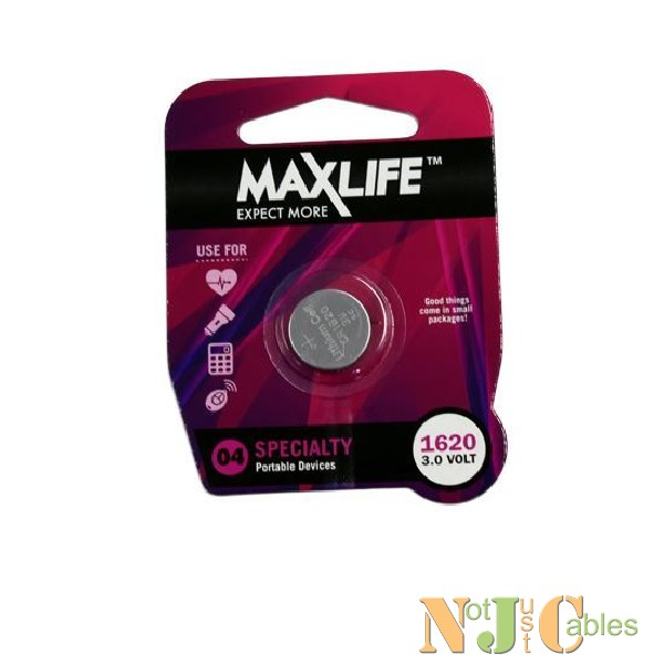 MAXLIFE CR1620 Lithium Button Cell Battery