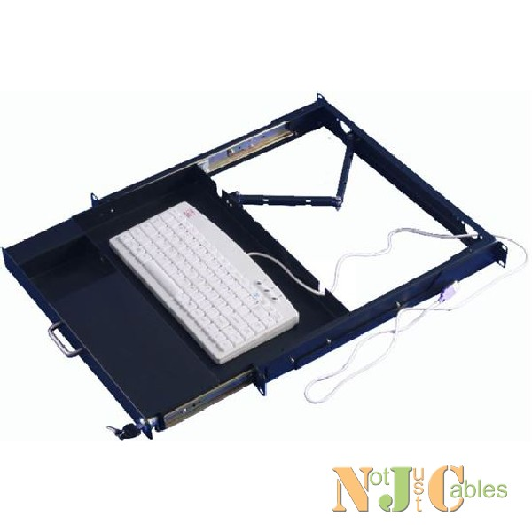 1RU Adjustable Keyboard Panel with lock