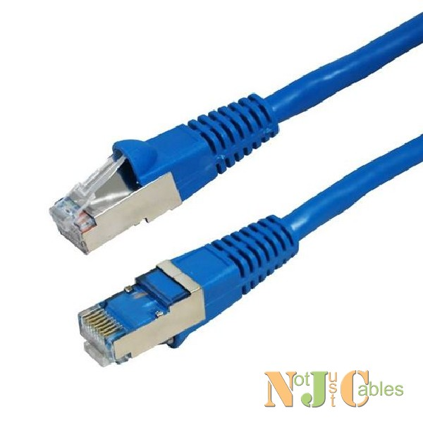 Cat6A Blue Shielded Patch Leads