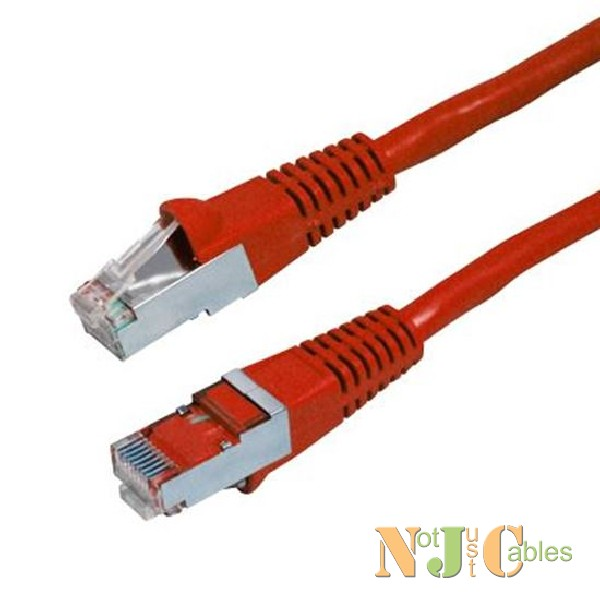 Cat6A Red Shielded Patch Leads