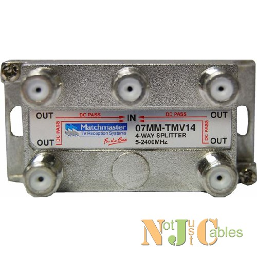 RF Splitter 4 Way 5-2050MHz F Type