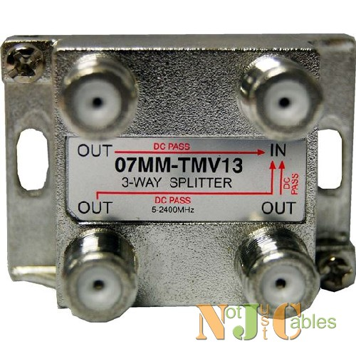RF Splitter 3 Way 5-2050MHz F Type